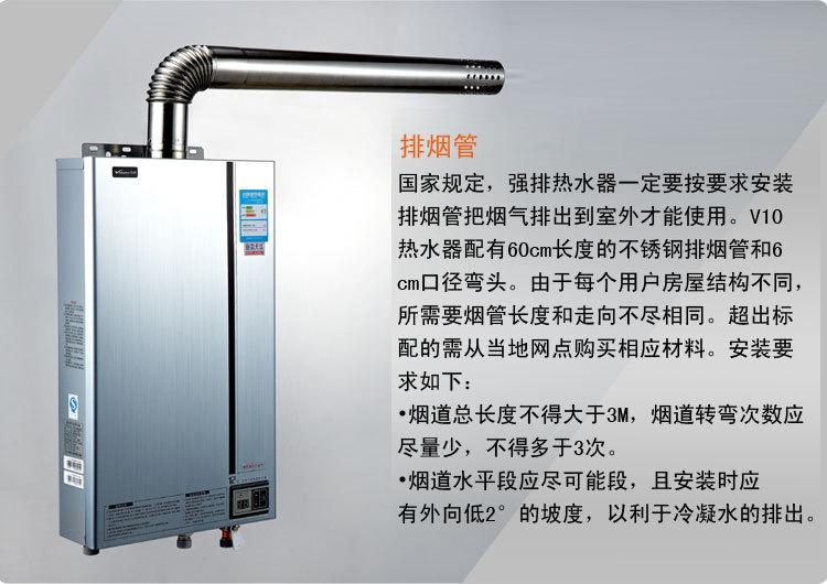 万和燃气热水器排污口图解